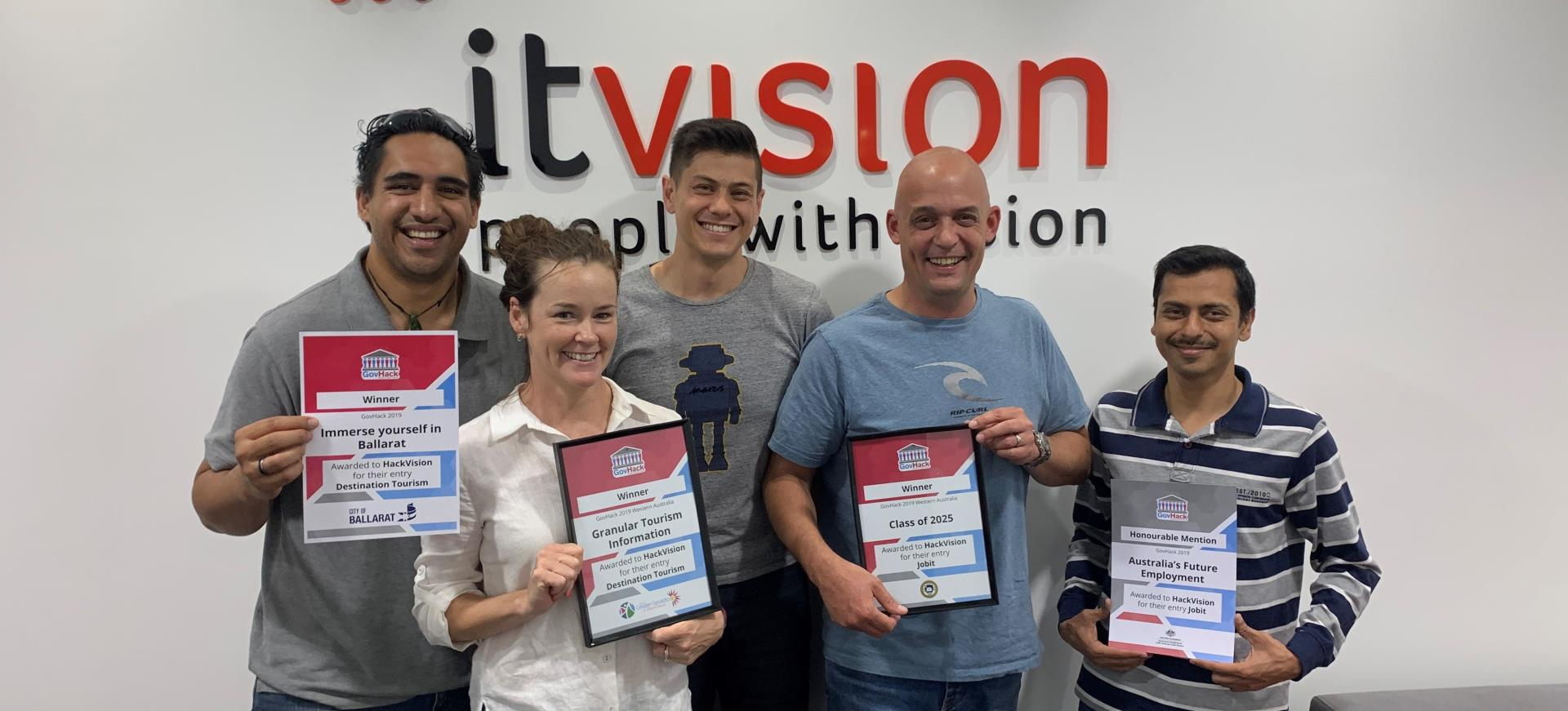 HackVision takes out three awards at GovHack